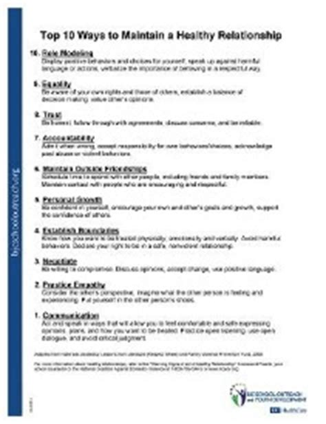 Healthy Relationships Worksheets by Printable Worksheets
