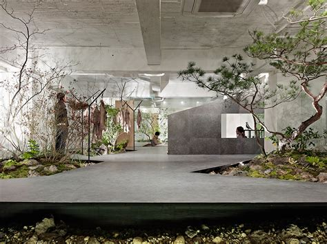 interior garden love for nature open space showroom integrates an