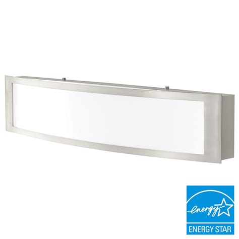 Led Bathroom Lights Vanity Home Decorators Collection 180 Watt Equivalent Brushed Nickel Integrated Led Vanity Light