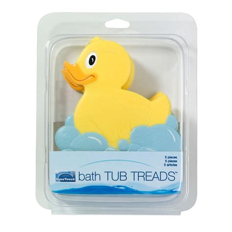 bathtub treads aqua touch 5 piece bath tub treads ducks