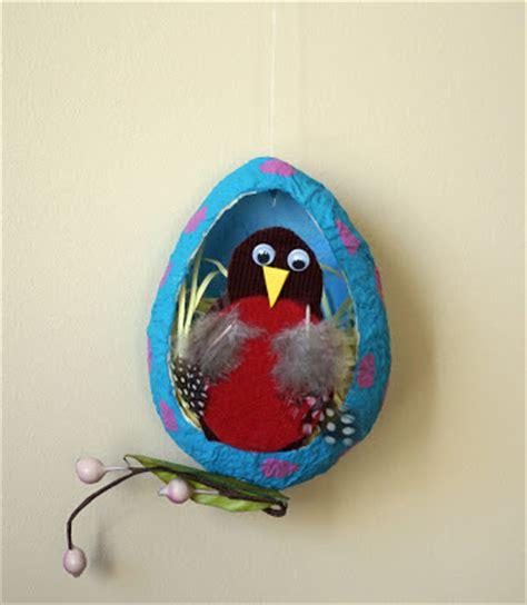 Paper Mache Crafts For Preschoolers - that artist papier mache robin eggs