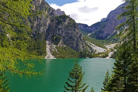 italian nature of photographs image italy braies nature mountains lake