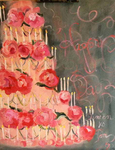 birthday painting copeman 187 a poem a painting pink birthday