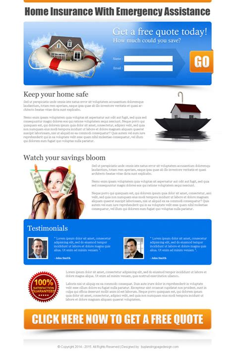 lead capture page templates free best converting insurance landing page templates