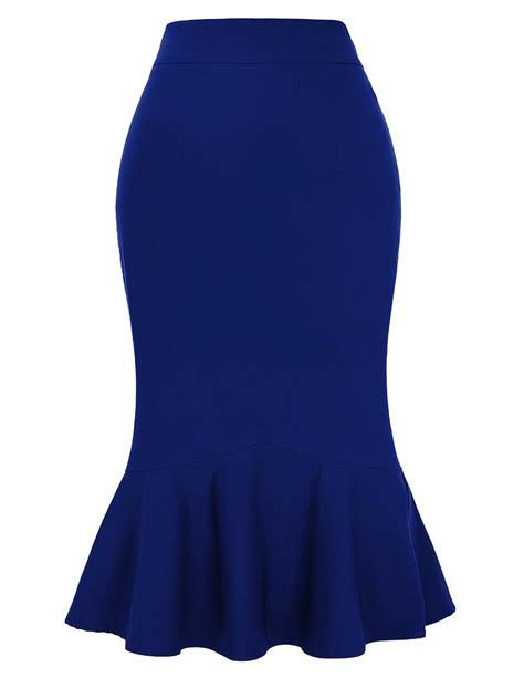most royal blue pencil skirt plus size dress