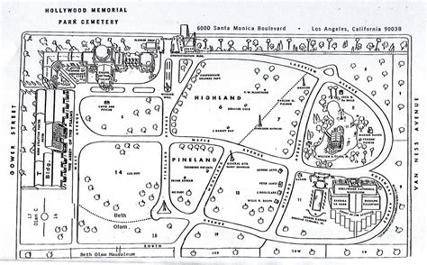National Cathedral Floor Plan hollywood memorial cemetery map hollywood california