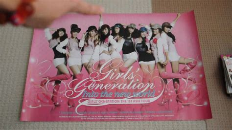 Generation The 1st Asia Tour Into The New World snsd generation the 1st asia tour into the new world concert cd poster unboxing avi
