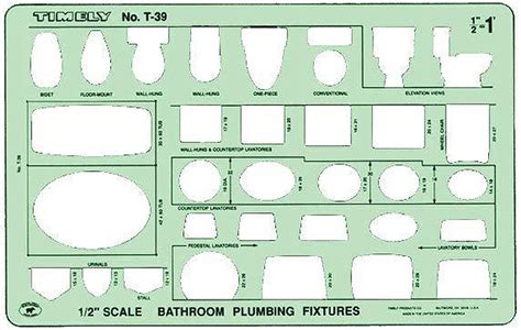 timely t 39 bathroom plumbing fixtures drawing template