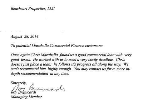 Letters Of Reference Marabella letters of reference marabella commercial finance