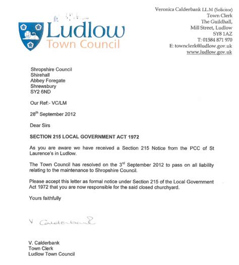 Calderbank Offer Letter Exle Where Will The Buck Stop For Ludlow S Collapsed Town Wall Andy Boddington