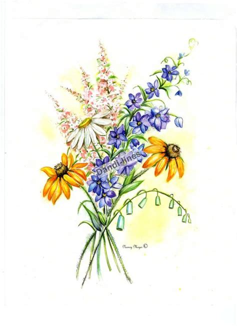 wildflower drawing google search ink pinterest