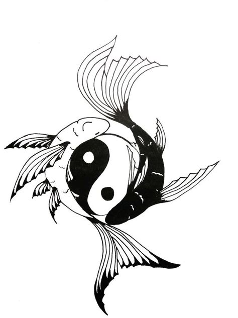 tato ikan koi yin yang yin yang koi fish tattoo chock full of symbolism