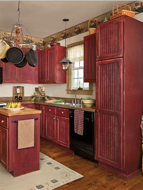 antique red kitchen cabinets antique red kitchen cabinets imanisr com