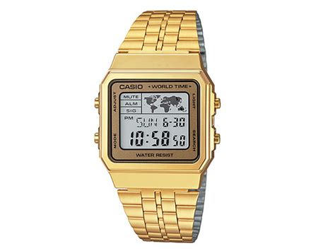 Casio A 500wga 1 楽天市場 カシオ casio 逆輸入 デジタル 腕時計 a 500wga 9 メンズ レディース ゴールド メタル