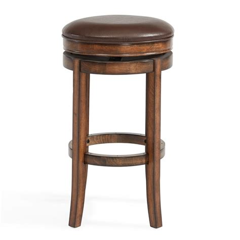 phoenix bar stools armen living phoenix 26 quot swivel counter stool in chestnut