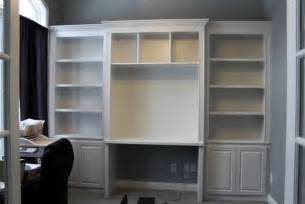 Bookshelves With Desk Built In Bookshelves And Desk Using Ikea Hemnes With Crown