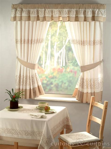 kitchen curtains retro natural cream embroidered kitchen curtain curtains uk