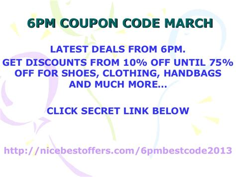discount coupon for 6pm.com