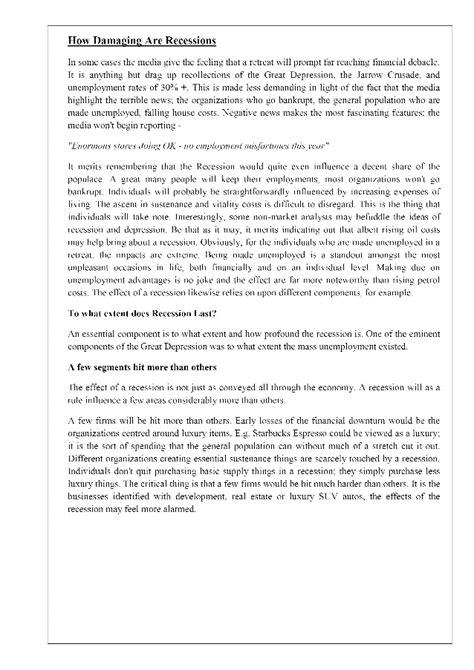 research paper rewards accruing from economic recession