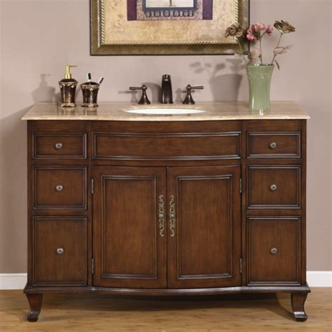 48 single sink bathroom vanity 48 inch antique brown single sink bathroom vanity with