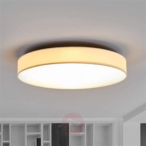 Fabric Ceiling Lights Large White Fabric Led Ceiling Light Saira Lights Co Uk