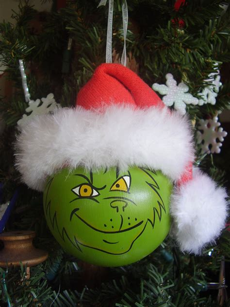 grinch lightbulb ornament