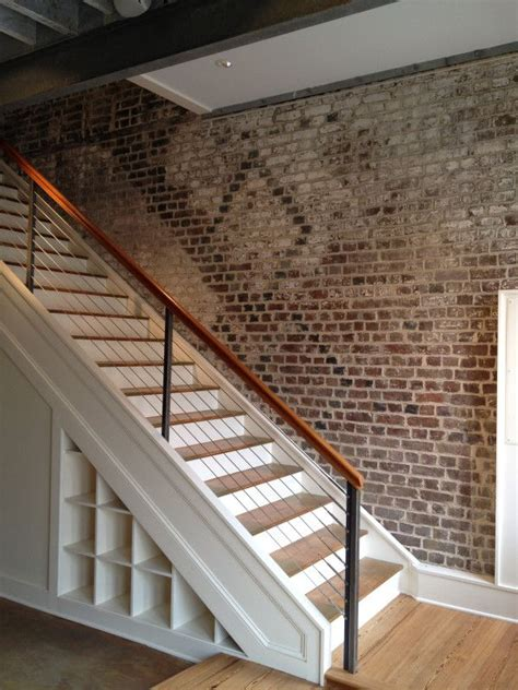 Brick Stairs Design Exposed Brick Walls And A Crisp Clean Staircase The Way The Stairs Are Trimmed Out And