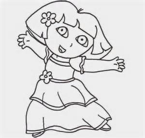 princess dora coloring pages print cooloring com