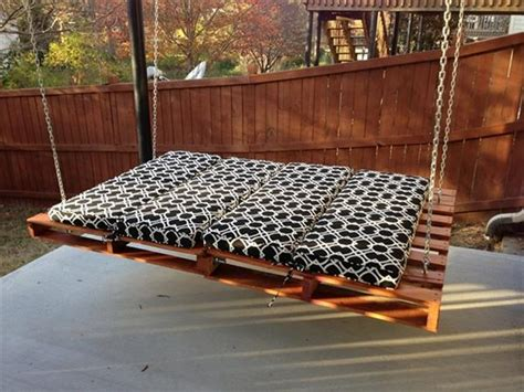hanging pallet bed diy inspired pallet swing ideas diy and crafts