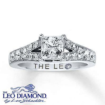 a stunning princess cut leo independently