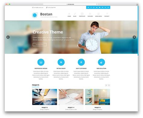 business web design homepage 30 best wordpress corporate business themes of 2016 for