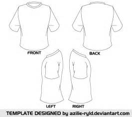 Shirt Template Back by Vector Blank Tshirt Template Front And Back