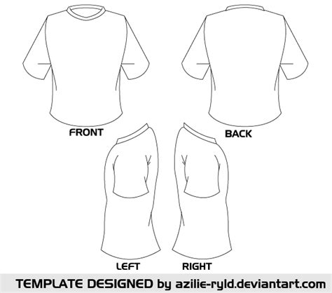 blank tshirt template vector front and back vectors
