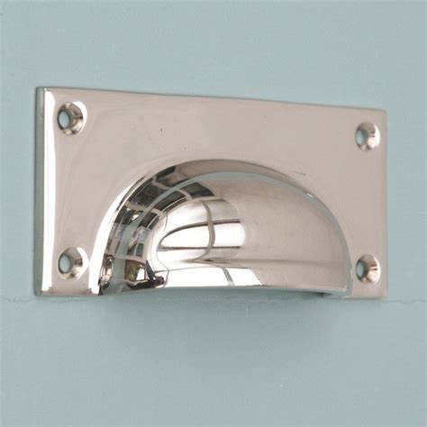 nickel drawer pulls uk polished nickel hooded drawer pull from willow and stone