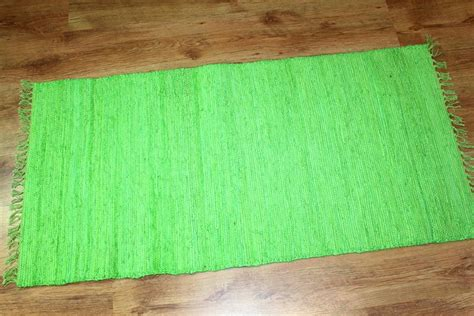 rag rugs cotton lime rag rugs trendcarpet co uk