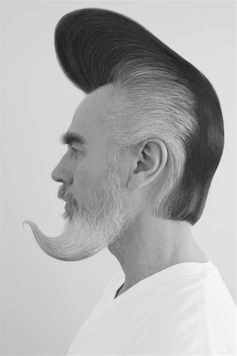 pompadore and beard how the pompadour met the beard hairstory pinterest