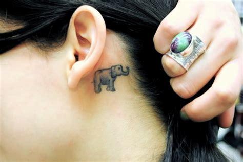 small elephant tattoo behind ear elephant tattoo images designs
