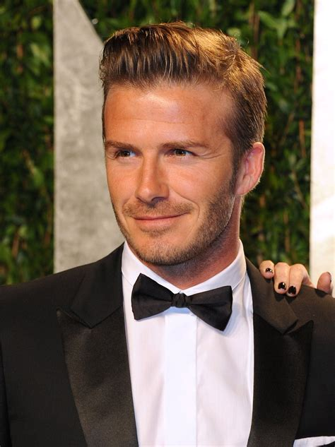 David Beckham In by David Beckham In A Slick Black Bow Tie My Affinity For