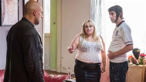 sacha baron cohen kisses rebel wilson on the set of why rebel wilson rules out nude scenes