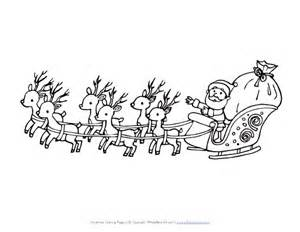 santa claus sleigh coloring pages santa flying in sleigh coloring page all network