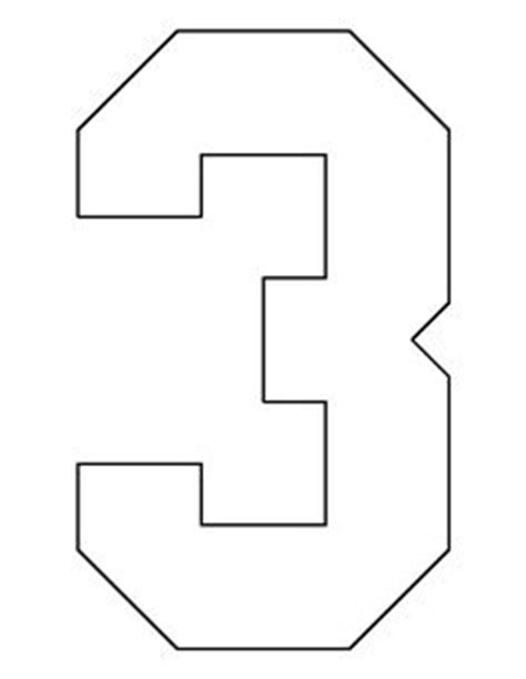 large number 3 template number 4 pattern use the printable outline for crafts