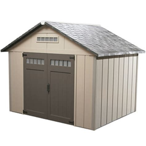 shop homestyles 10 x 12 x 9 vinyl storage shed at lowes com shop homestyles premier gable storage shed common 10 ft