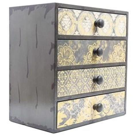 gray yellow patterned box with from hobby lobby storage