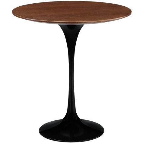 Tulip Side Table Lippa 20 Inch Side Table Black Walnut Wood Eero Saarinen Tulip And Products