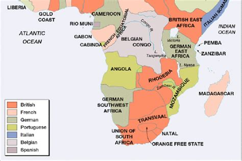 africa map resources partition of africa 2