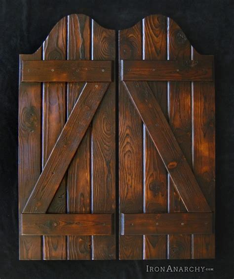 decorating varnished saloon siwing doors bunch