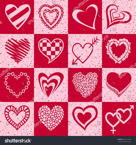 Paket Baby Pink set pink hearts stock illustration 180117944