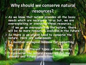 Essay On Nature Conservation For Class 8 by Conservation Of Resources Ppt