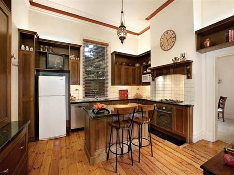 Country Galley Kitchen Designs Country Galley Kitchen Design Using Floorboards Kitchen