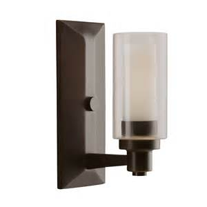 Bronze Wall Sconce 1 Light Wall Sconce Olde Bronze Circolo Collection